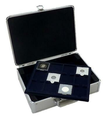 S6 Cargo Coin Case With 6 12 x 50 mm Blue Felt Quadrum Coin Trays