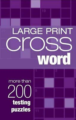 Crossword (Large Print Puzzles) Book The Cheap Fast Free Post