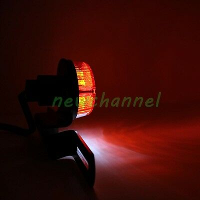 Motorcycle 12V Round Red Lens LED Brake Stop Rear Tail Light License Plate lamp
