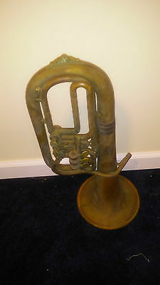 Antique tuba made in  Italy the year of 1860 - 1880