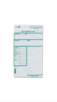 Quality Park Poly Cash Transmittal Bags, 6 x 9 Inches, Clear, Pack of 100 45220