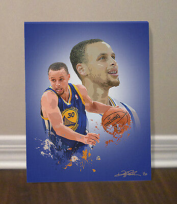 STEPHEN CURRY Golden State Warriors Limited Edition CANVAS print