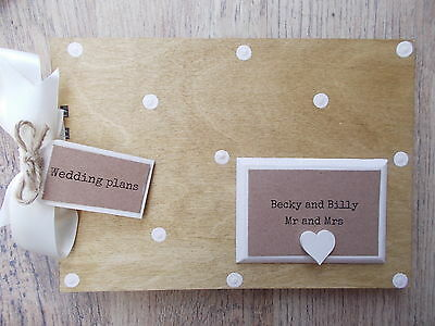 Personalised Wedding Plans Wooden Scrapbook/photo Book /memories