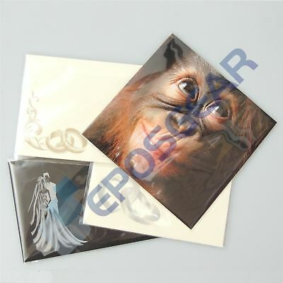 1000 A6/C6 162mm x 119mm Clear Cellophane Greeting Card Peel & Seal Display Bags