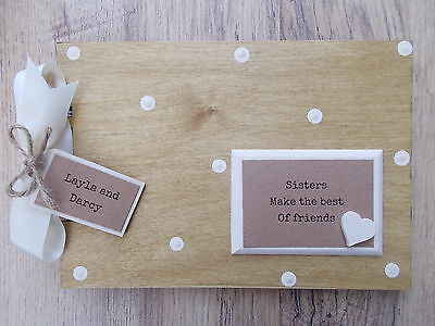 Personalised Sisters Wooden Scrapbook/photo Book /memories