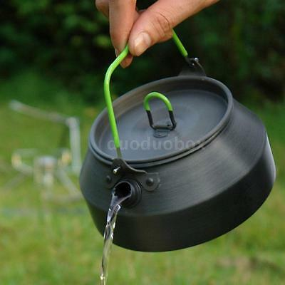 800ML Outdoor Hiking Camping Picnic Water Kettle Teapot Coffee Pot I6V8