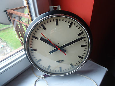 Vintage Factory / Office Clock / Industrial Clock / Siemens / 50's Austria /