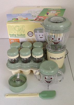 Magic Bullet Baby Food Making System Complete EUC With Box