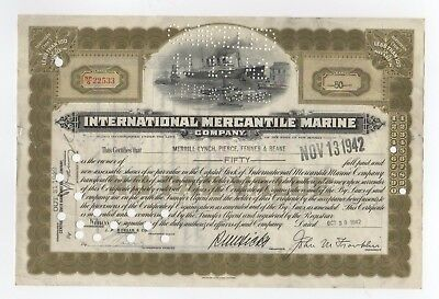 International Mercantile Marine Co. - 100th Anniversary of Sinking of Titanic