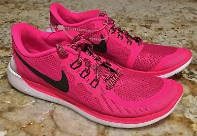 sports shoes 8b16d 50474 NIKE Free 5.0 Vivid Pink Pow Black Running Shoes NEW Youth Girls Sz 5.5 6.5