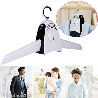 Portable Electric Clothes Dryer Coat Suit Dress Travel Smart Hanger Drying Fast