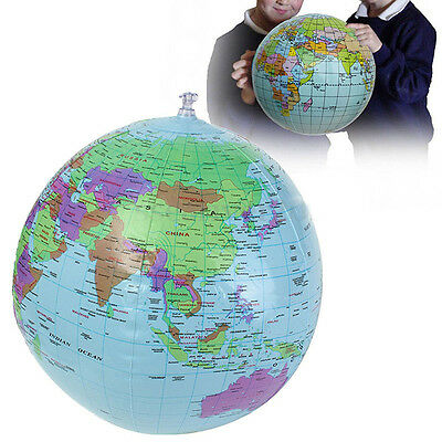 30cm Inflatable World Earth Globe Atlas Map Beach Ball Geography Education Toy