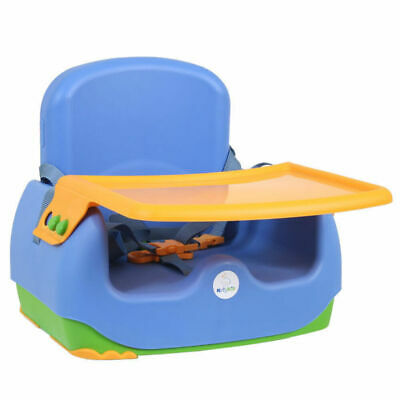 Kids Kit Portable Toddler/Baby Booster Seat Feeding High Chair w/Harness/Tray