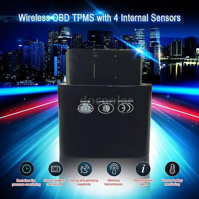 Bluetooth Obd Tpms Real-Time Tire Pressure Monitor 4 Sensor For Ios Android A7V0