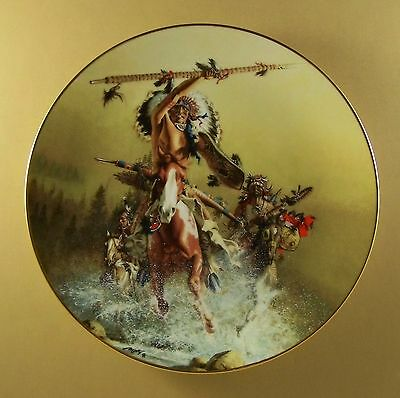 The Fierce and the Free OUT OF THE RISING MIST Plate Native American Indian COA