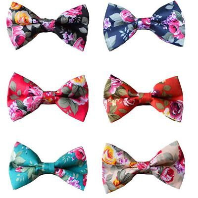 New Fashion Men Flowers Floral Printing Bowtie Pre-tied Cotton Bow Tie TSBWT0037