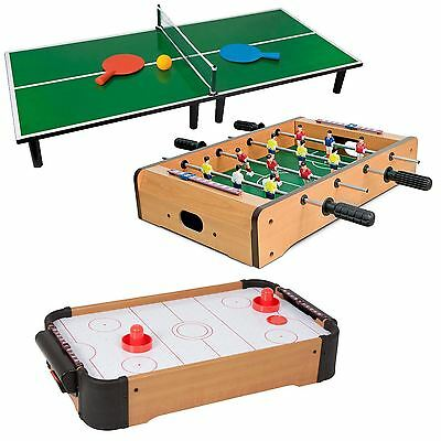 Wooden Mini Table Top Game Set Kids Desktop Arcade Play Xmas Toy Family Fun Gift