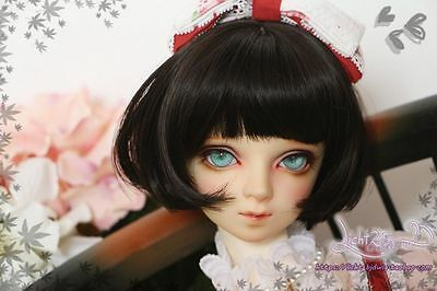 1 4 7-8 BJD Wig MSD DOC SD DZ LUTS Dollfie Doll wigs short curl black