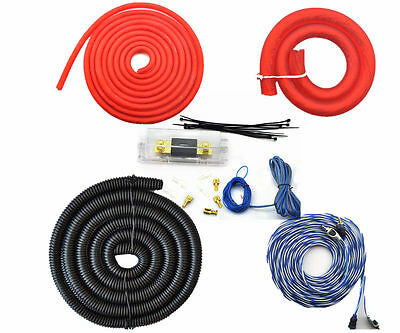 6000 Watts 0AWG GAUGE Car Amp Amplifier Cable Sub Subwoofer Wiring Kit -0AWG