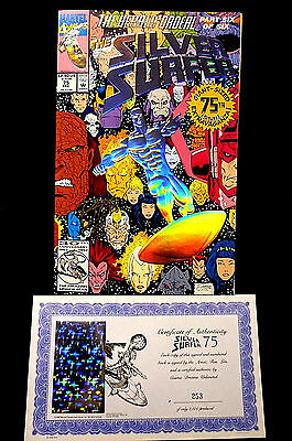 Silver Surfer #75 Ron Lim Marvel Comic Signed Numbered Limited Comic COA