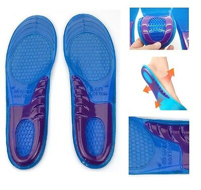 Orthotic Arch Support Massage Feet Gel Cushion Heel Silicon Shoe Insole Pair