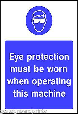 130x90MM MUST BE WORN WHEN OPERATING - MANDATORY PRINTED VINYL STICKER