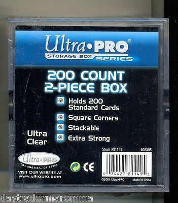 **Craft storage**Ultra pro 200 count 2 part plastic box