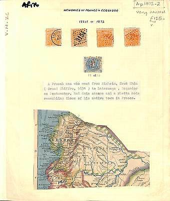 AF176 1872 ECUADOR Latacunga Stamps x 5 French Style Cancels