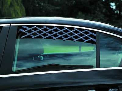 pet dog air vent car rear window small van expanding safety guard mesh breather