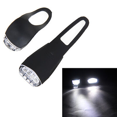 USB Rechargeable Bicycle Led Light 3Mode Bike Front+Tail Safety Flashlight Light