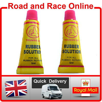 GRIP GLUE Adhesive For All Rubber Motorcycle Grips Inc Renthal 5ml x 2 Tubes
