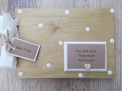 Personalised New Home Renovation Wooden Scrapbook/Photo Book /Memories