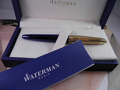 Waterman Edson Saphire Blue    Rollerball Pen New In Box Very Rare Pen