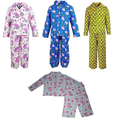 Boys/Girls Pyjamas Flannel Peppa Pig George Pig Or Minions