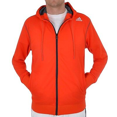 adidas Performance Mens Prime Training Full Zip Hoody - Orange / Black