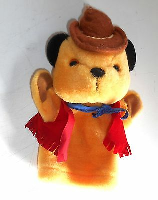 Vintage The Sooty Show - COWBOY SOOTY - Plush Hand Puppet - (AZ14)