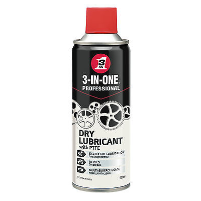3 In 1 3-In-1 Professional Dry Ptfe Lubricant 400Ml