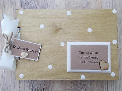 Personalised Recipe Book Wooden Scrapbook/photo Book /memories