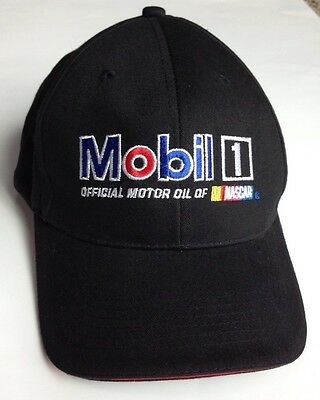 NASCAR RACING HAT- PEGASUS - Mobil 1 - Black - Adjustable