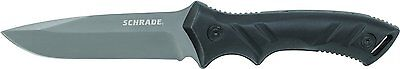 SCHRADE Tactical Black FUll Tang Straight Fixed Survival Knife w/ Sheath SCHF31