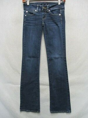 D7648 American Eagle Outfitters Slim Boot Cool Jeans Women's 00 Measured 26x30