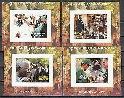 : Chad, 2008 issue. Mandela and Pope John Paul II Deluxe s/sheets.