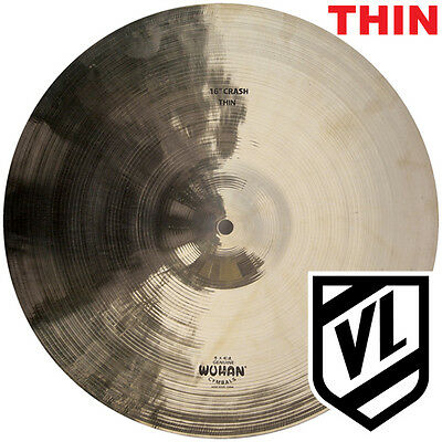 """16"""" WUHAN Thin Crash - Traditional Cymbal WUCR16T - NEW"""