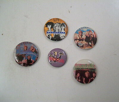 Lot Of Five Pieces - Bananarama Pinback Button Badge Pin Fun Lot!!
