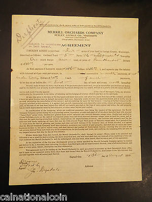Merrill Orchards Company Land Purchase Agreement 1915 • $19.16
