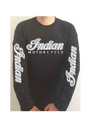 INDIAN MOTORCYCLE SLEEVE PRINT  t-shirt SEE BOTH PHOTOS