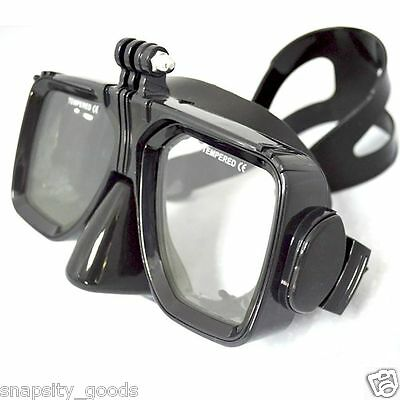Underwater Diving Face Mask Scuba Snorkel Swim Goggles for GoPro Hero 4 3+ 3 2