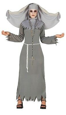 Donna Gotico Medievale Fantasma Halloween Costume Outfit UK 10-16