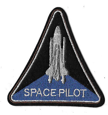 """Space -  Pilot - Shuttle - Moon - Astronaut - Embroidered Iron On Patch - 4"""""""