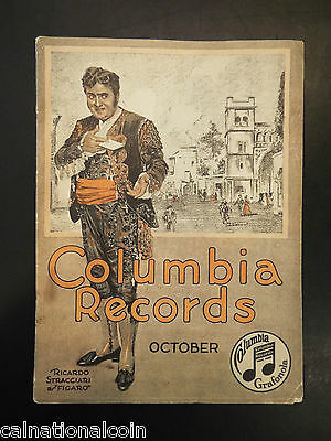 Columbia Records Catalogue October Issue 1917